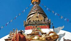Halbtagestour - Kathmandu mit Swayambhunath