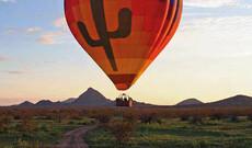 Heißluftballonfahrt zum Sonnenuntergang