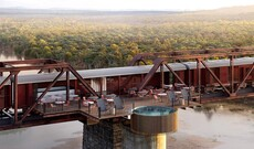 Kruger Shalati - Train on the Bridge