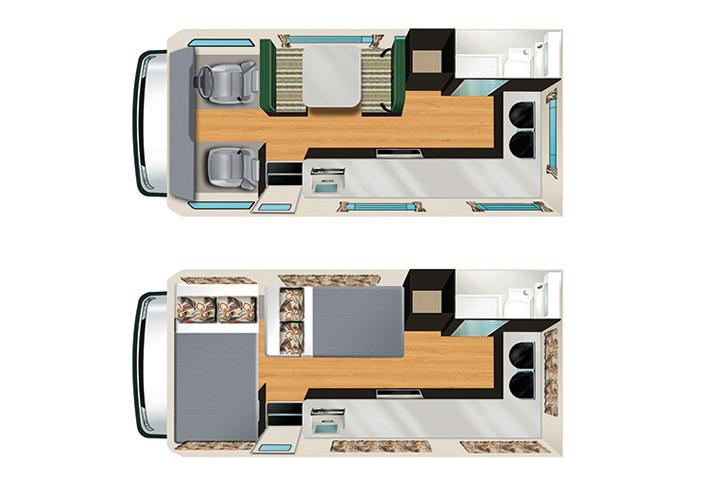 Floorplan Apollo Euro Camper