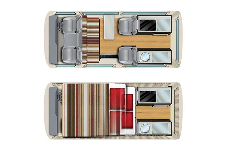 Floorplan Apollo Endeavour Camper