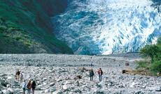 Wanderung am Franz Josef-Gletscher