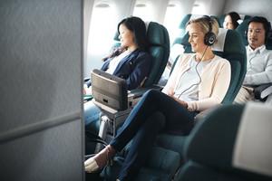 Der Bereich der Premium Economy bei Cathay Pacific Airways