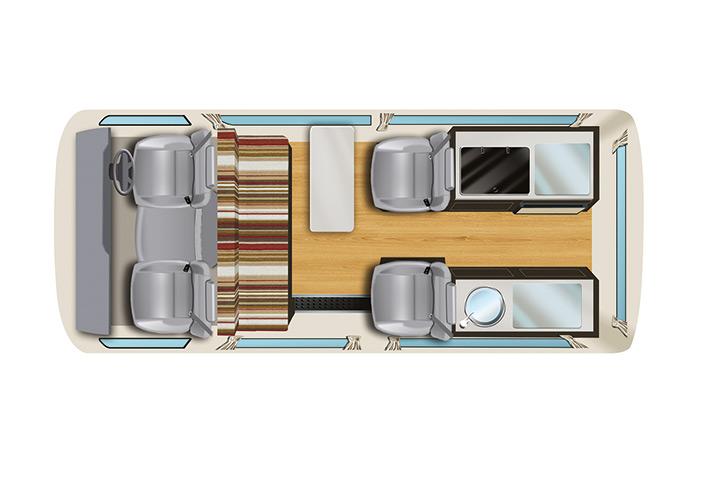 Floorplan bei Tag - Apollo Endeavour Camper